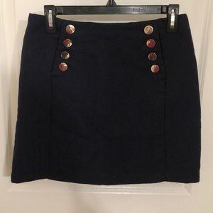 H&M navy sailor button mini skirt